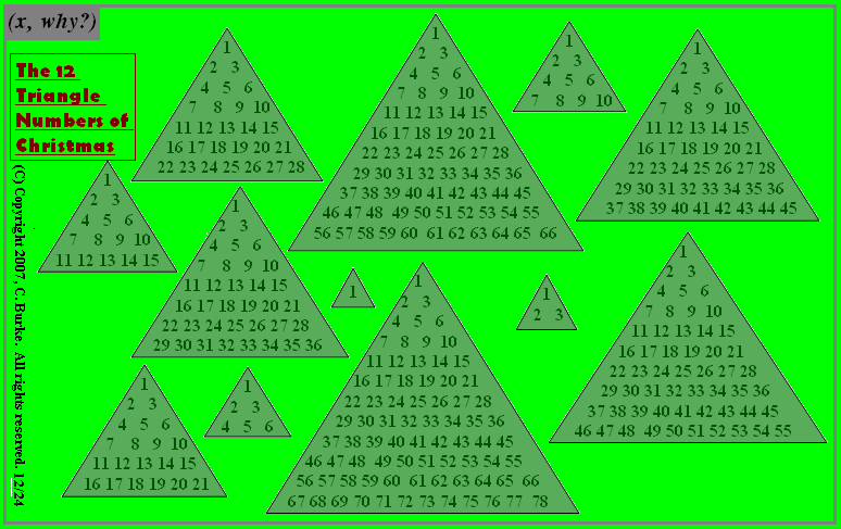 Triangle Number Christmas Trees